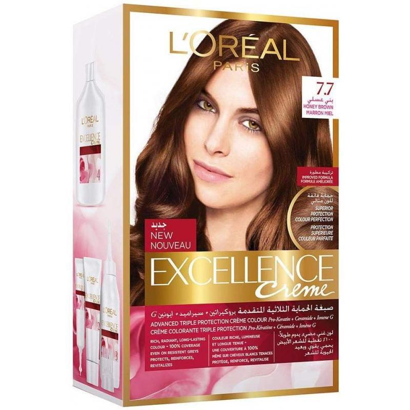 L'Oreal Paris Excellence Crème Hair Color - 7.7 Honey Brown