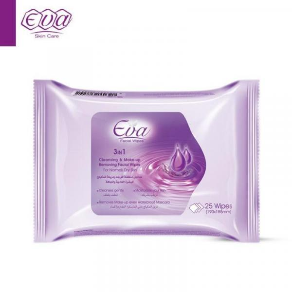 Cleansing and Make-up Removing Facial Wipes With Glycerin For Normal/Dry Skin: 25 wipes per pack-
